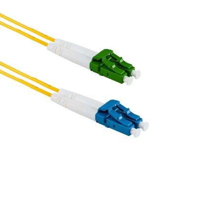 1M LC/UPC to LC/APC Duplex OS2 SMF