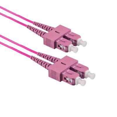1M SC/UPC auf SC/UPC Duplex OM4 MMF